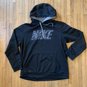 Nike Therma Fit Black Spellout Hoodie